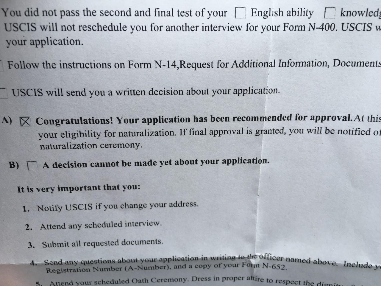 Oath reschedule